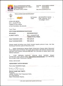 Cukai Pintu rebate RM48.51 after hearing on Surat Bantahan