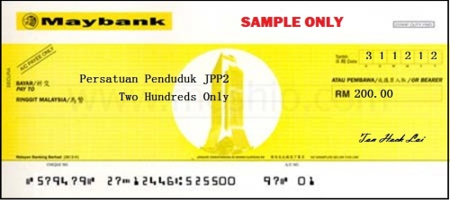 Sample cheque 2