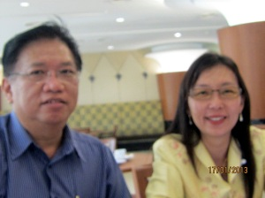 Exco YB Teresa and Chairman Mr Kong in session