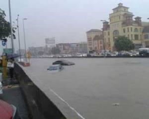 the cars were stalled and stranded in the LDP turned Canal