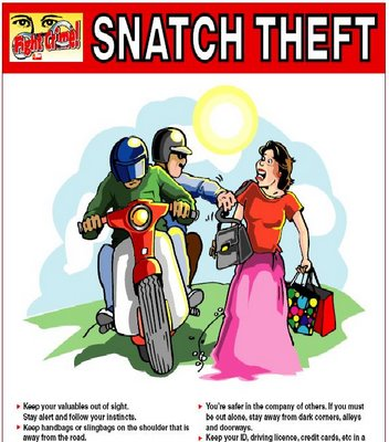 snatch thieves The current anxiety about public security is directly related to the sudden surge in the reporting of crime, especially how three snatch thefts resulted in the deaths of two women and one man.