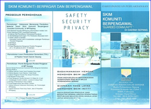 Application Procedure of A Gated & Guarded Community Scheme Under MPSepang